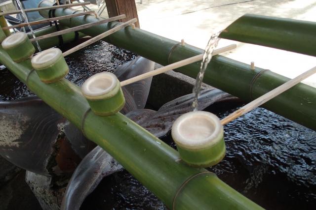 神社の「手水(ちょうず・てみず)による浄化